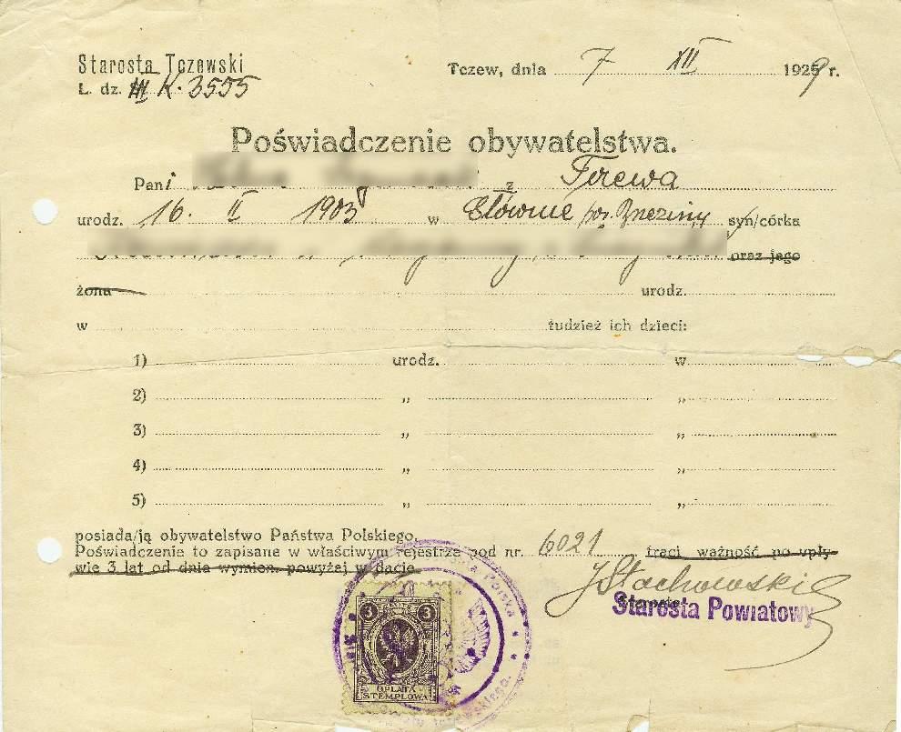 Poświadczenie obywatelstwa