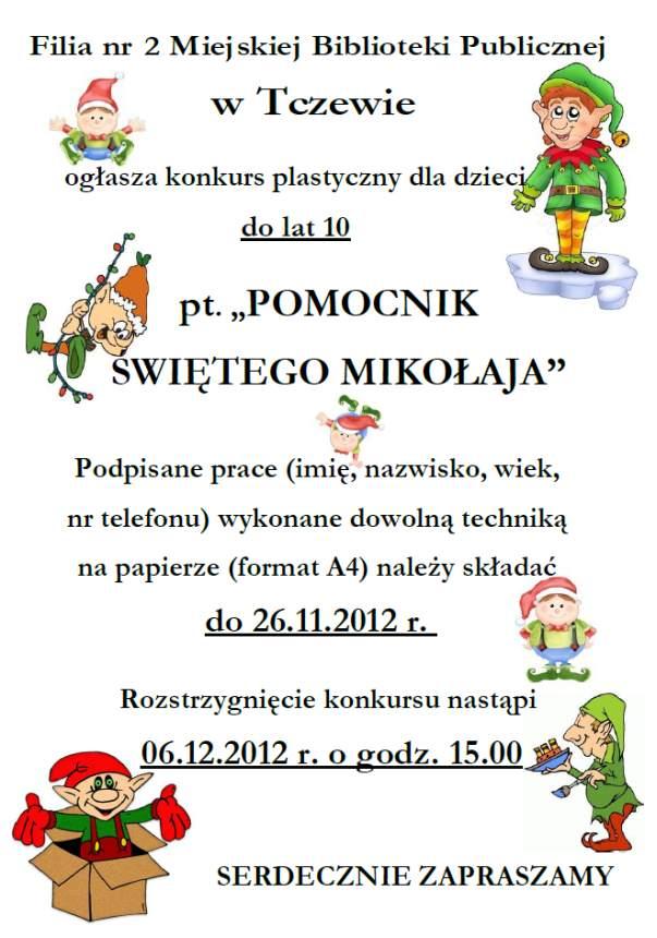 Konkurs Pomocnik Świętego Mikołaja