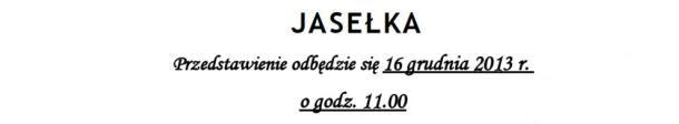 Jasełka wFilii nr2