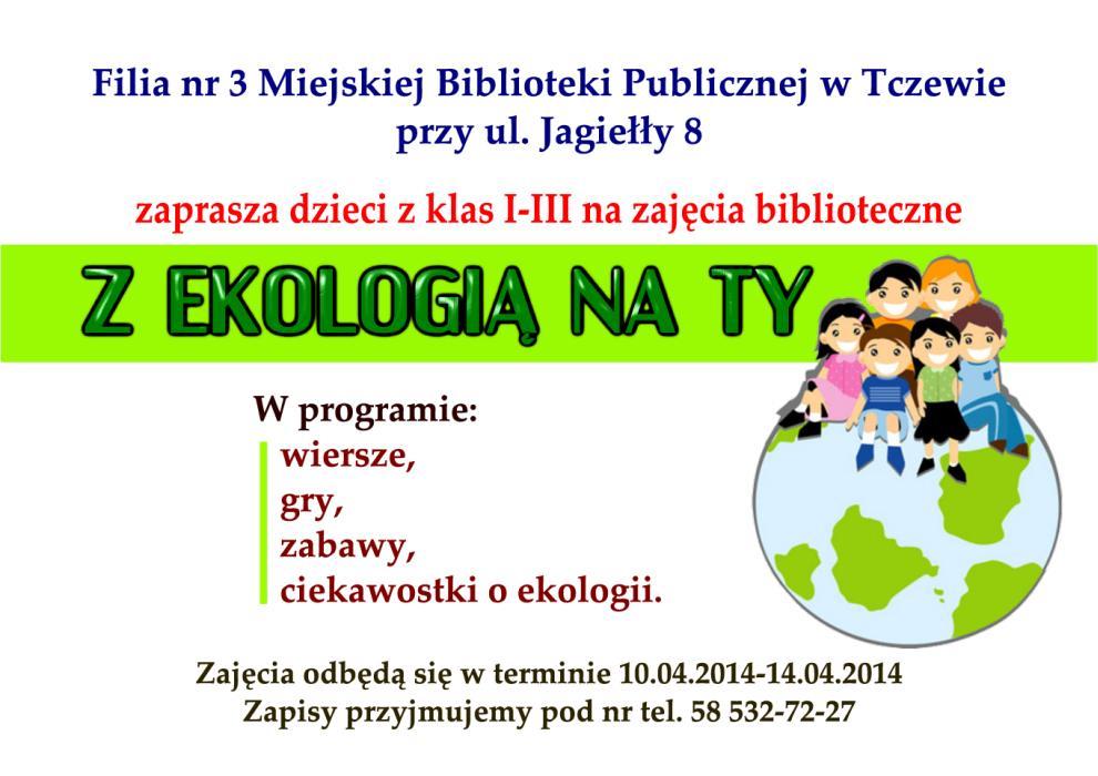 Zajęcia Z Ekologią Na Ty Miejska Biblioteka Publiczna W