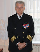 Z profesorem Danielem Dudą oSzkole Morskiej wTczewie ijej pierwszym dyrektorze Antonim Garnuszewskim.