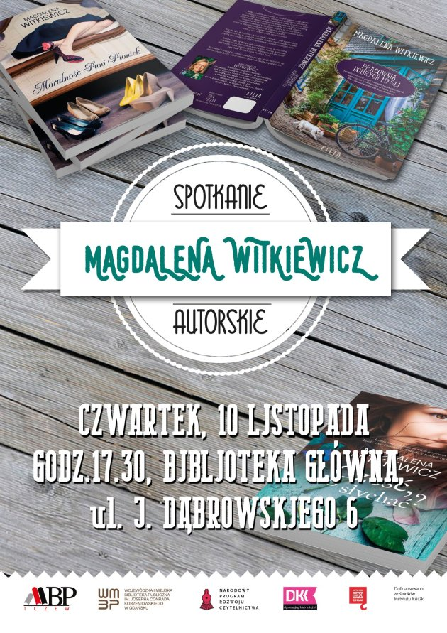 Spotkanie zMagdaleną Witkiewicz wMiejskiej Bibliotece Publicznej