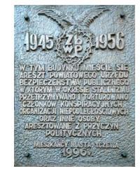 Tablica pamiątkowa na budynku Miejskiej Biblioteki Publicznej