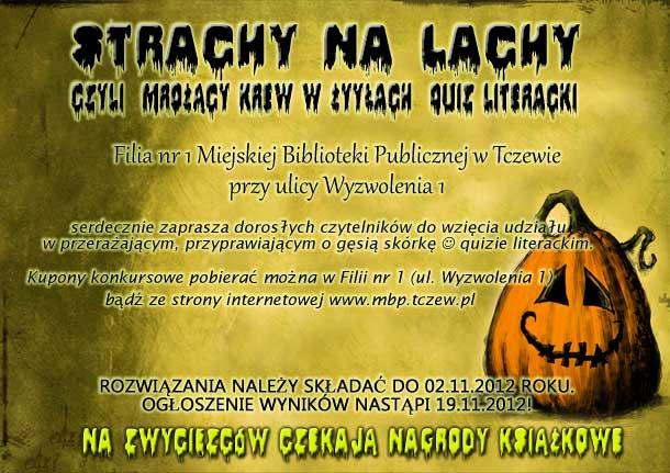 Quiz literacki Strachy na lachy