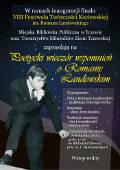 Poetycki wieczór wspomnień o Romanie Landowskim