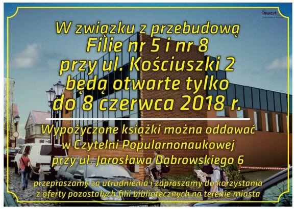 Rewitalizacja biblioteki przy ul. Kościuszki 2