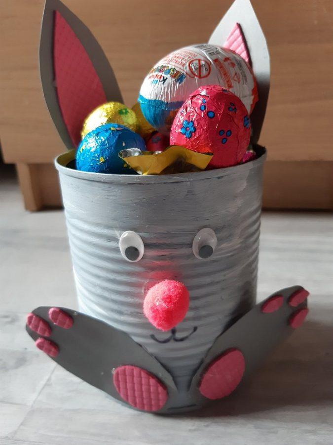 Puszka - zajaczek - praktyczna ozdoba naWielkanoc