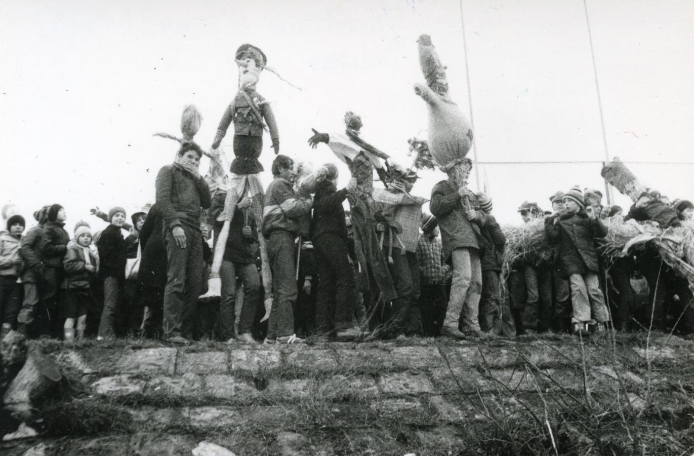 Topienie Marzanny, rok 1985, fot.S. Zaczyński