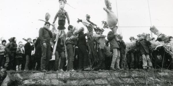 Topienie Marzanny, rok 1985, fot. S. Zaczyński