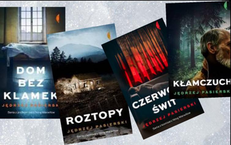 Okładki książek Jędrzeja Pasierskiego