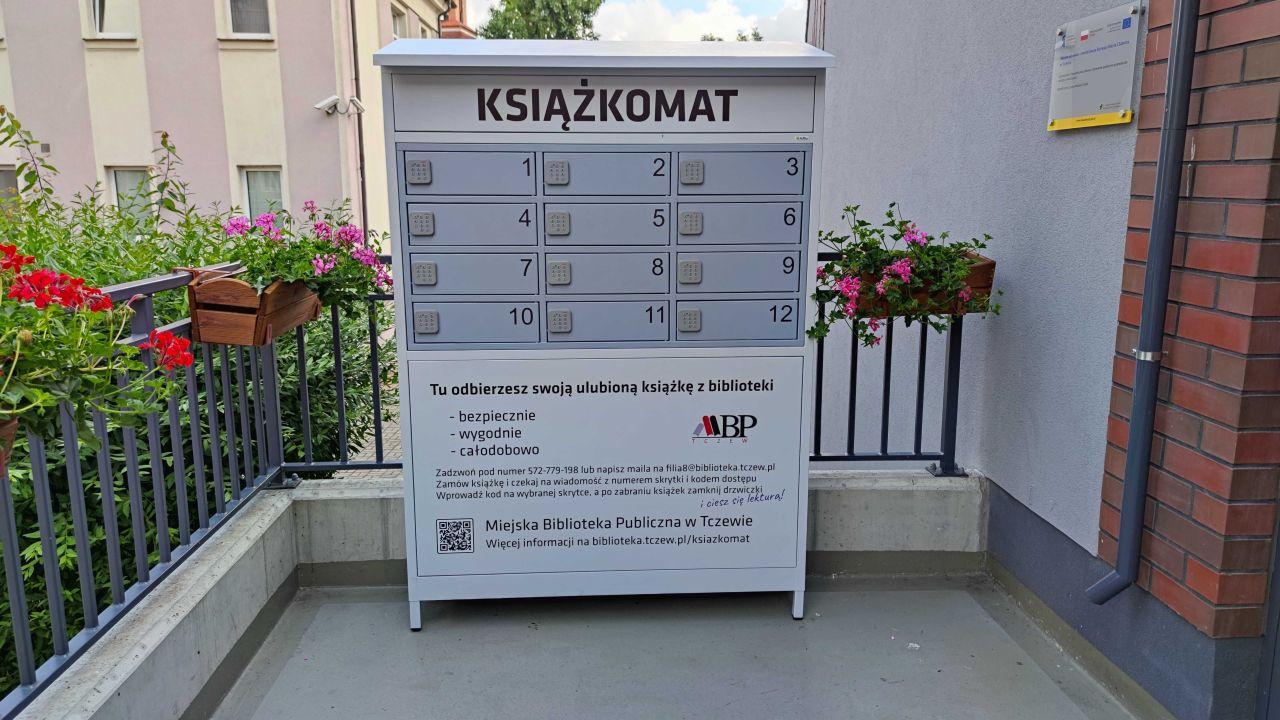Książkomat Miejskiej Biblioteki Publicznej wTczewie