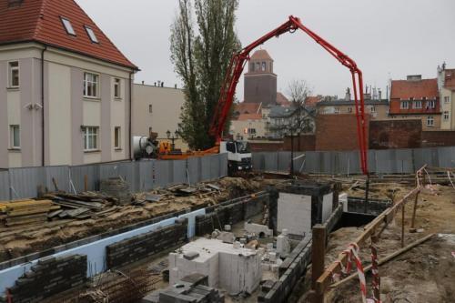 Budowa biblioteki przy ul.Kościuszki